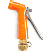 Sani-Lav® N2S17 Small Reinforced Industrial Spray Nozzle w/Swivel Hose Adapter-Safety Orange