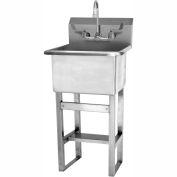 SANI-LAV U1818F Floor Mount Utility Sink With Faucet