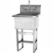 SANI-LAV U2424F Floor Mount Utility Sink With Faucet