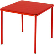 "Cosco® 24"" x 24"" Vinyl Top Juvenile Table With Screw In Legs Red"