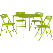 Cosco® 5-Piece Folding Table and Chair Set Apple Green