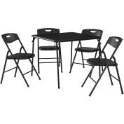 Cosco® 5-Piece Folding Table and Chair Set Black