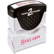"""Cosco® Pre-Inked Message Stamp, FILE COPY, 1/2"""" x 1-5/8"""", Red"""