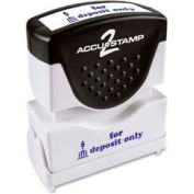 """Cosco® Pre-Inked Message Stamp, FOR DEPOSIT ONLY, 1/2"""" x 1-5/8"""", Blue"""