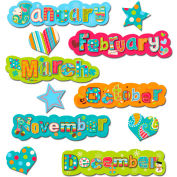 Creative Teaching Press Dots on Turquoise Months of the Year, 17 Pcs/Set