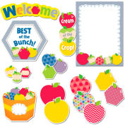 Creative Teaching Press Hexafun Apple Appeal Bulletin Board Set, 60 Pcs/Set