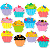 "Creative Teaching Press Cupcakes 10"" Jumbo Designer Cut-Outs, 36/Pack"