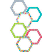 "Creative Teaching Press Hexagons 10"" Jumbo Designer Cut-Outs, 36/Pack"