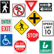 "Creative Teaching Press Street Signs 10"" Jumbo Designer Cut-Outs, 14/Pack"