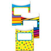Creative Teaching Press Poppin' Patterns Jumbo Library Pockets, 12/Pk