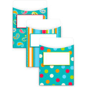 Creative Teaching Press Dots on Turquoise Jumbo Library Pockets, 12/Pk