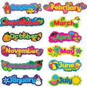 Creative Teaching Press Poppin' Patterns Seasonal Months of the Year, 12 Pcs/Set