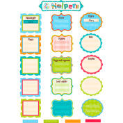 Creative Teaching Press Our Class Helpers Dots on Turquoise Mini Bulletin Board Set, 52 Pcs/Set