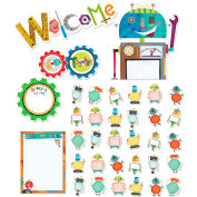 Creative Teaching Press Riveting Robots Welcome Bulletin Board Set, 36 Pcs/Set