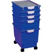 """Certwood Standard Width Rollatray Kit CE1965PB - 16-3/4""""L x 12-5/16""""W x 28-1/8""""H Blue"""