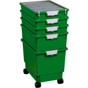 """Certwood Standard Width Rollatray Kit CE1965PG - 16-3/4""""L x 12-5/16""""W x 28-1/8""""H Green"""