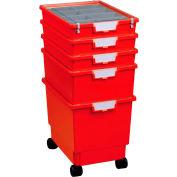 """Certwood Standard Width Rollatray Kit CE1965PR - 16-3/4""""L x 12-5/16""""W x 28-1/8""""H Red"""