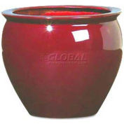 "OfficeScapesDirect 13"" Fiberglass Fish Bowl - Burgundy"
