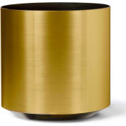 "OfficeScapesDirect 12"" Floor Plant Container - Brushed Gold"