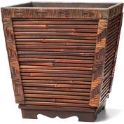"OfficeScapesDirect 12"" Rattan/Wood Container"