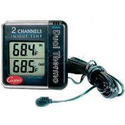 Cooper Digital Thermometer, Io70-0-8, Indoor/Outdoor, W/Remote Sensor - Min Qty 4