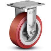 "Colson® 4 Series Rigid Plate Caster 4.04108.929 SS - Polyurethane on Polyolefin 4""Dia. 600 Lb."