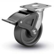 "Colson® 4 Series Swivel Plate Caster 4.04109.839.EN BRK2 SS With Brake 4"" Dia. 1000 Lb. Cap."