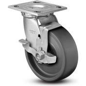 "Colson® 4 Series Swivel Plate Caster 4.04109.839.EN BRK7 SS With Brake 4"" Dia. 1000 Lb. Cap."