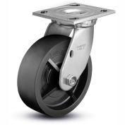 "Colson® 4 Series Swivel Plate Caster 4.04109.839 - Solid Polyolefin 4"" Dia. 500 Lb. Cap."