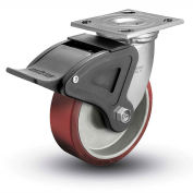 "Colson® 4 Series Swivel Plate Caster 4.04109.939 BRK4 Polyurethane With Brake 4"" Dia. 700 Lb."