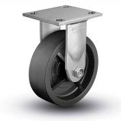"Colson® 4 Series Rigid Plate Caster 4.05108.839 SS - Solid Polyolefin 5"" Dia. 650 Lb. Cap."