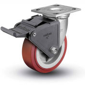 "Colson® 4 Series Swivel Plate Caster 4.05109.929 BRK2 SS Poly With Brake 5"" Dia. 750 Lb."
