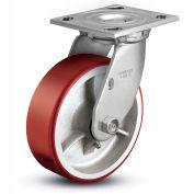 "Colson® 4 Series Swivel Plate Caster 4.05109.949.7 - Mold-On Polyurethane 5"" Dia. 1000 Lb. Cap."