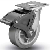 "Colson® 4 Series Swivel Plate Caster 4.06109.459 BRK4 Rubber Total Lock Brake 6"" Dia. 600 Lb."