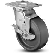 "Colson® 4 Series Swivel Plate Caster 4.06109.839.EN BRK7 SS With Brake 6"" Dia. 1100 Lb. Cap."