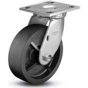 "Colson® 4 Series Swivel Plate Caster 4.06109.839 - Solid Polyolefin 6"" Dia. 700 Lb. Cap."