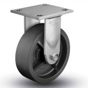 "Colson® 4 Series Rigid Plate Caster 4.08198.839 SS - Solid Polyolefin 8"" Dia. 900 Lb. Cap."