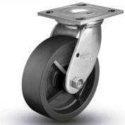 "Colson® 4 Series Swivel Plate Caster 4.08199.839 SS - Solid Polyolefin 8"" Dia. 900 Lb. Cap."