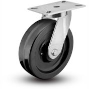 "Colson® 7 Series Swivel Plate Caster 7.12689.379 LH15.5 - Phenolic 12"" Dia. 3500 Lb. Cap."