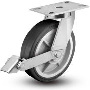 """Colson® 7 Series Swivel Plate Caster 7.12689.459.2 LH15.5 BRK1 With Brake 12"""" Dia. 1700 Lb."""