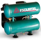 FS-Curtis FCT02C36H4X-A1J1XX,  Portable Electric Air Compressor, 2 HP, 4 Gallon, Twin Stack, 3.7 CFM