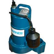 """Barnes 112549 SP33A Submersible Effluent Pump 1/3 HP 120V 1-1/2"""" FNPT Discharge Mechanical Float"""