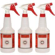 Plastic Sprayer Bottles 24oz - 3 Bottles/Pack - UNS03010