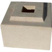"""Cubic Pedestal Riser For 36"""" Cubic Planter, Tan"""