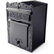 "QualArc Kingsbury Mailbox LSF-LS03 - Front Access Wall/Column Mount 12""W x 13""D x 17""H Black"