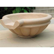 "Roman Scupper Fountain 36"", Sandstone"
