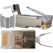 Vertical Cable 012-021-100 Cat 6, RJ45 Shielded Modular Plugs, 8P 8C, 50 Micro-Inches Gold Plated