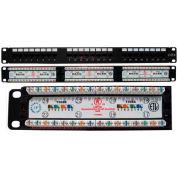Vertical Cable, 042-377/24, Cat 6 24 Port 110 IDC Patch Panel