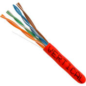 Vertical Cable, 054-449RD, Cat 5E 24AWG UTP 4 Pair Solid Bare Copper 350Mhz Riser Rated PVC Red