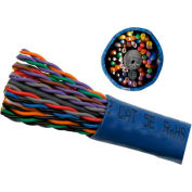Vertical Cable, 054-454BL-700, Cat 5E UTP 25 Pair Power Sum Blue PVC Jacket 24 AWG, 700 Ft, Blue